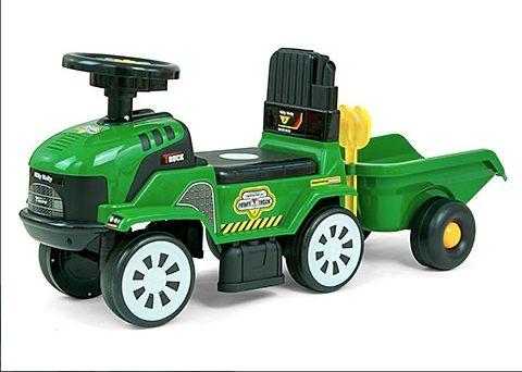 muzyczny Jeździk z przyczepką odpychacz traktorek