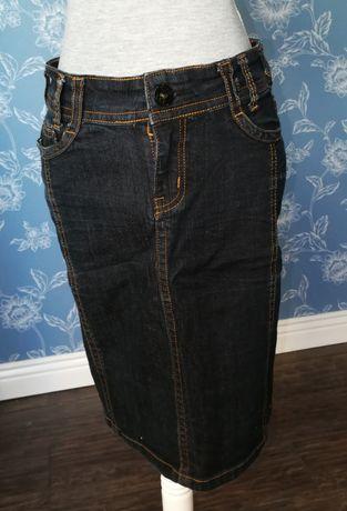 Spódnica z grubego jeansu w rozmiarze S