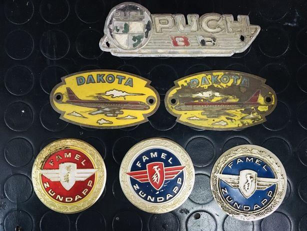 Emblemas simbolos motorizada bicicleta antigo vintage
