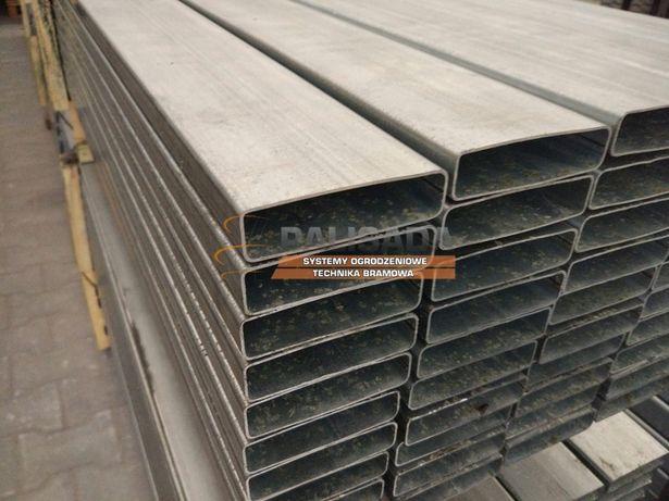 PROFIL, PROFILE OCYNKOWANE 80X20 - stalowy ocynkowany 20x80 - 600 cm