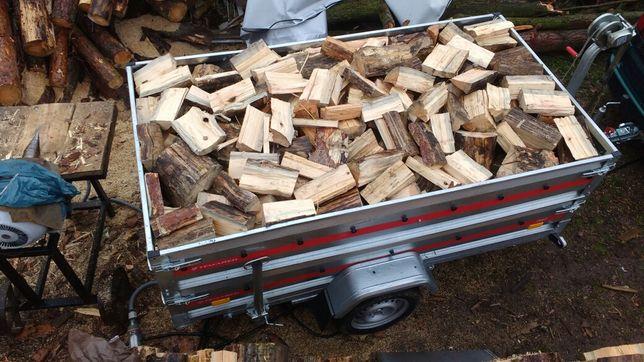 Drewno opałowe   w klockach na przyczepce 2 metry przestrzenne