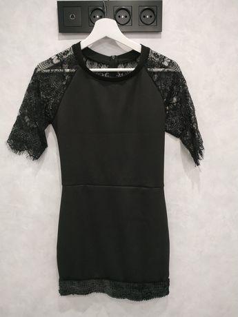 Платье черное кружево