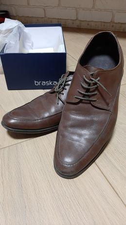 Туфли Braska кожанные, коричневые, 43 размер