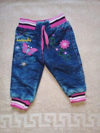 Тёплые штаны от 0 до 6 месяцев. 200 рублей
