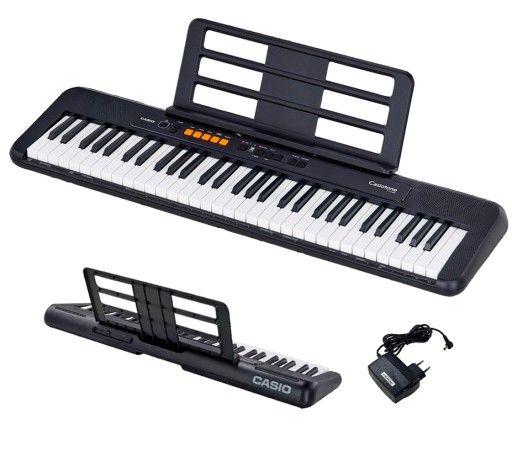 Casio CT-S100 BK keyboard 5 lat gwarancji - pakiet z zasilaczem