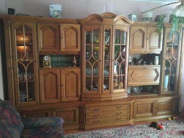 Meble drewniane dębowe stylowe, komoda,  ławostół