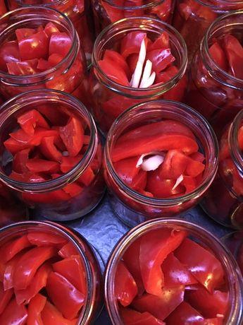 Papryka marynowana w occie - przetwory domowej produkcji