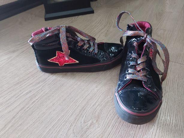 Sneakersy półbuty trzewiki skóra jesień r. 35 stan idealny