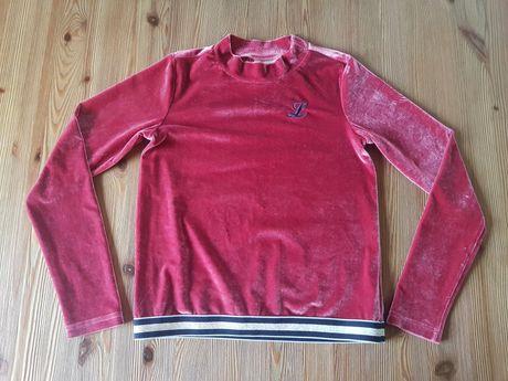 Bluzka bluza welur/miś dziewczynka 152 cm