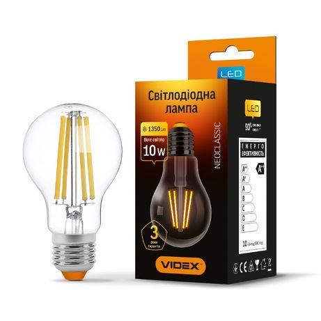 LED лампа VIDEX Neoclassic Filament A60F 10W E27 4100K