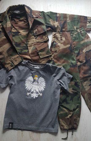 Mundur wojskowy mil-tec,moro, spodnie,kurtka,t-shirt red is bad,xs-116