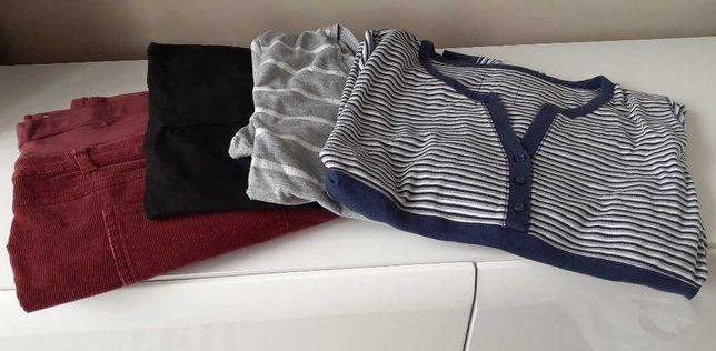 Zestaw 4szt. ubranie ciążowe 2x spodnie, 2x bluzka, 48/XL Yessica C&A