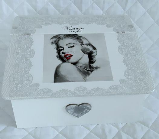 Chlebak biały drewniany glamour vintage