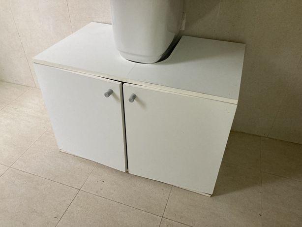 Movel de lavatório de casa de banho de madeira branca