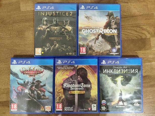 PS4 Divinity 2 , KingdomCome, Injustice 2, Dragon Age, Wildlands