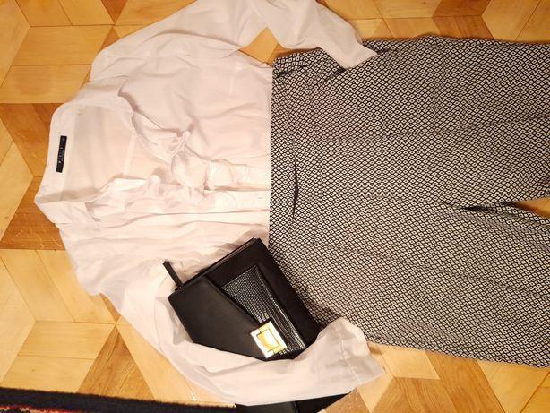 Spodnie cygaretki w pepitke rozm L