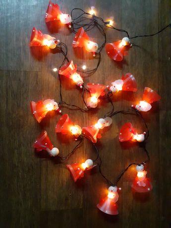 Гирлянда, Санта клаус,Дед мороз,Англия, 5 м
