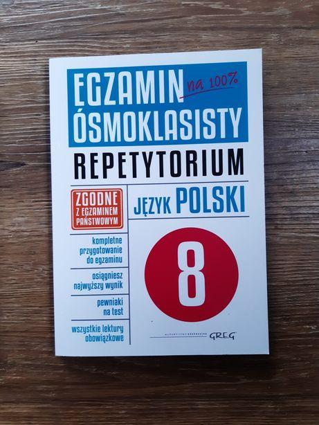 Repetytorium z języka polskiego dla ósmoklasisty.