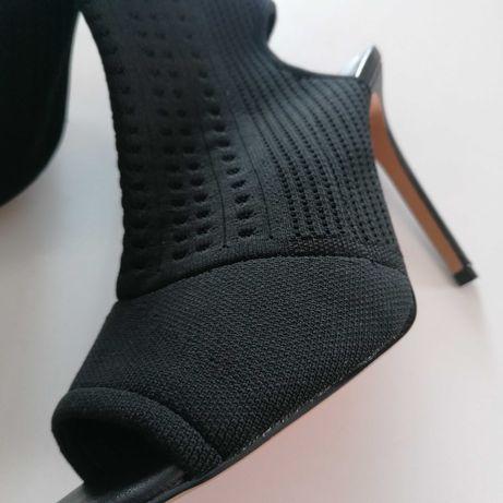 Sandałki Asos elastyczna cholewka 38,5 obcas 11,5cm
