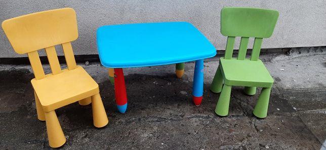 Stolik dla dzieci + 2 krzesla mamut