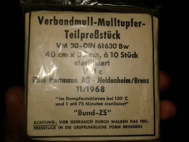 Немецкие повязки 68год