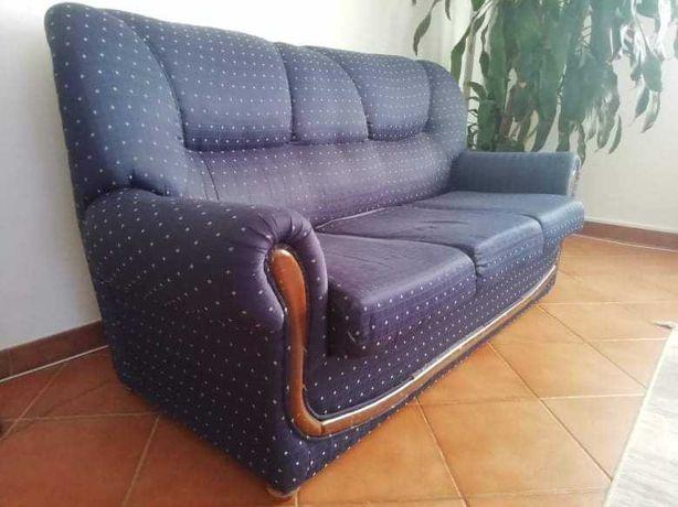 Sofá 3 lugares + 2 individuais + mesa de centro sala de estar