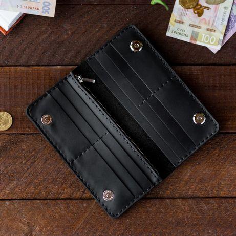 Кожаный кошелек, купюрник, имя владельца на изделии, кожа,