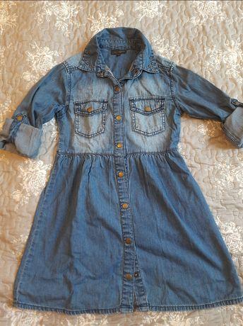 Легкое джинсовое платье для девочки