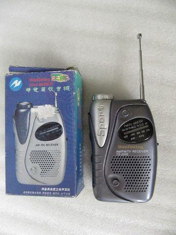 Радиоприемник FM AM, TS-2006, динамик, антенна, фонарь, новый