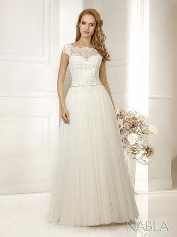 Suknia ślubna, roz. 36/38, dł. 167cm + 9cm obcas, welon + halka gratis