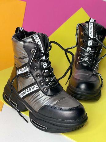 Стильные зимние ботинки для девочек