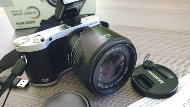 Aparat samsung NX300 + akcesoria