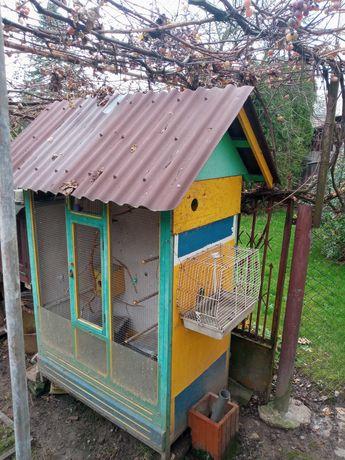Domek dla papug woliera
