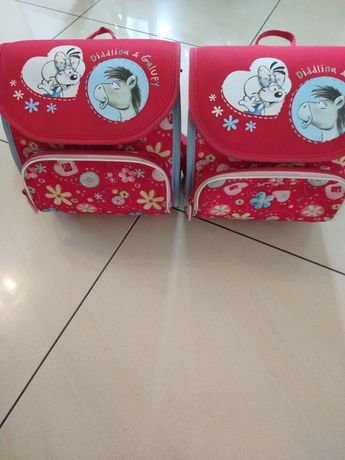 Mini plecaki dla przedszkolaka bliźniaczek 2 szt