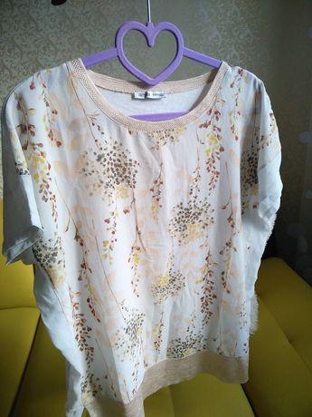 Блузка с короткими рукавами Zara р. L полиэстер/вискоза сток