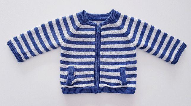 Dwustronna ciepła bluza sweterek 56/62
