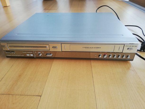 Philips DVDR630VR+pilot. Nagrywarka DVD z VHS, kopiowanie, przegrywani