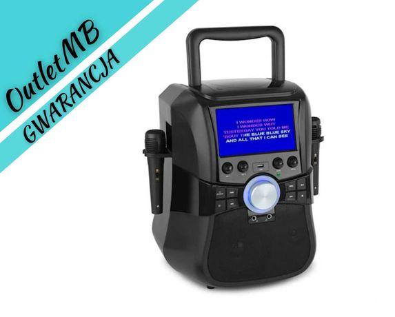 Zestaw karaoke głośnik kolumna DVD BT Bateria 2 mikrofony 240644