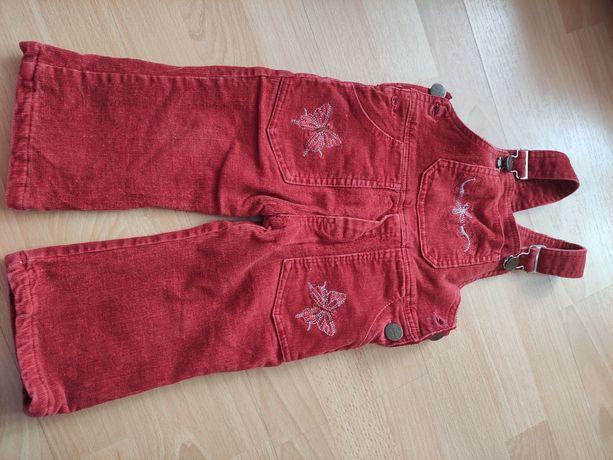 Struksowe ocieplane spodnie r.74