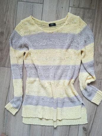 Przewiewny sweter 36 pastelowy