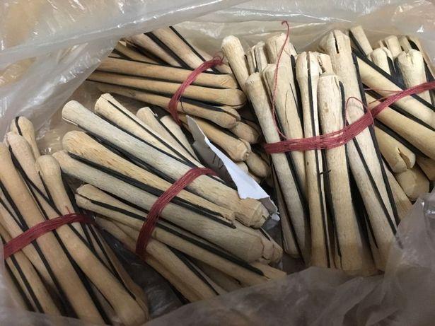 Коклюшки для завивки волос химии деревянные