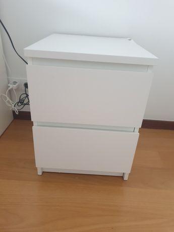 Cómoda c/2 gavetas Malm Ikea branco40x55 cm