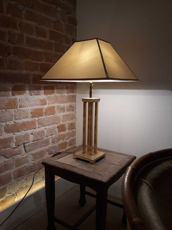 Mosiężna lampa stołowa, lata 80