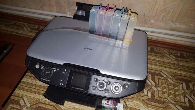 МФУ Epson RX-610 с установленной СНПЧ