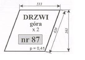 szyba drzwi górna ursus 912, C-385, C385, C 385, ACX165