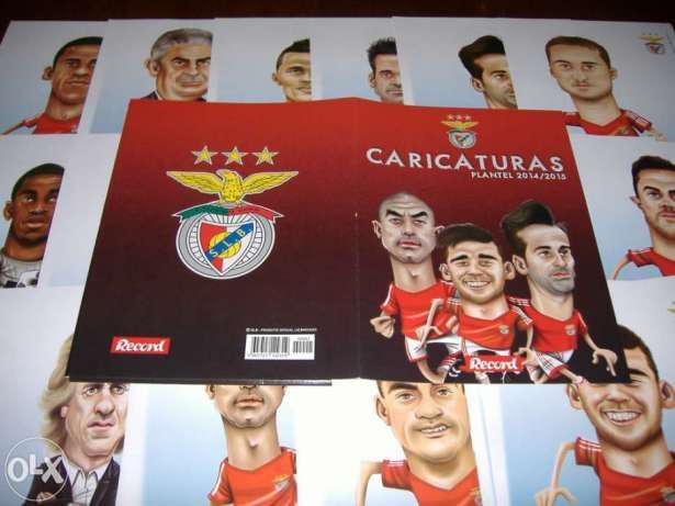 30 Caricaturas plantel Benfica 2014/15