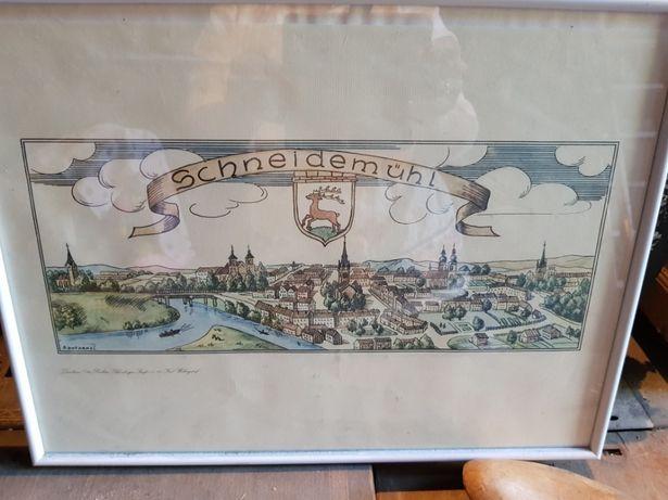 Rysunek rycina obraz szkic Piła