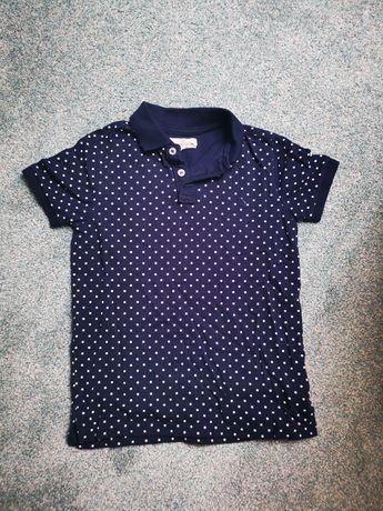 Koszulka polo granatowa, elegancka 134/140 8-10lat