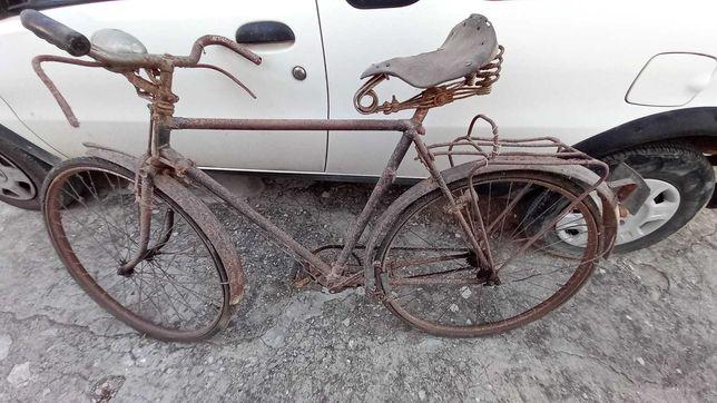 Bicicleta  Pasteleira antiga com travões  de alavanca