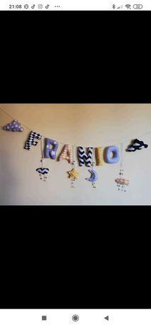 Napis Franio na łóżeczko, kołyskę do pokoju